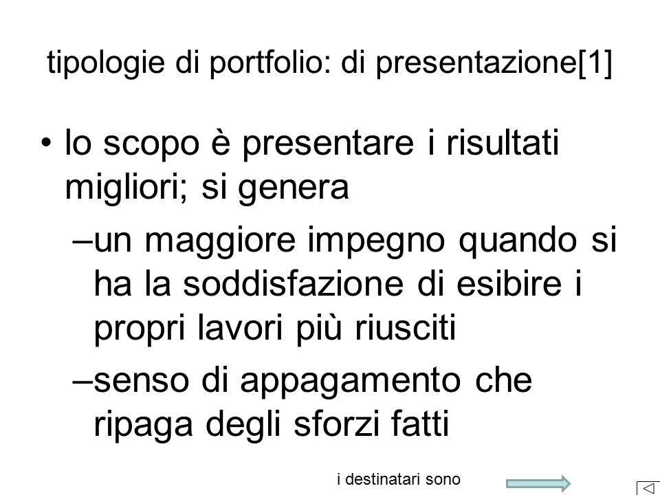 tipologie di portfolio: di presentazione[1]